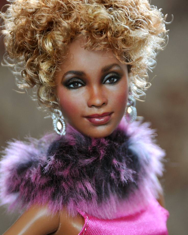 Whitney Houston doll (looked for a link to the artist but could not find it.)