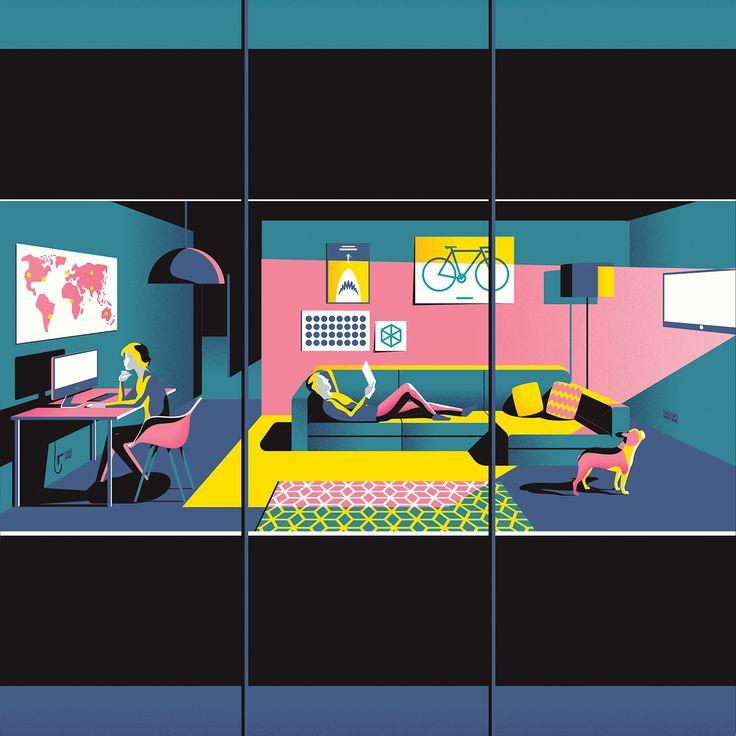 Essential Living – Illustration Series on Behance