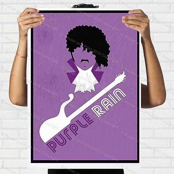 Purple Rain Prince pop singer Movie poster print design gift Wall art Decor motto print design graphic, 186