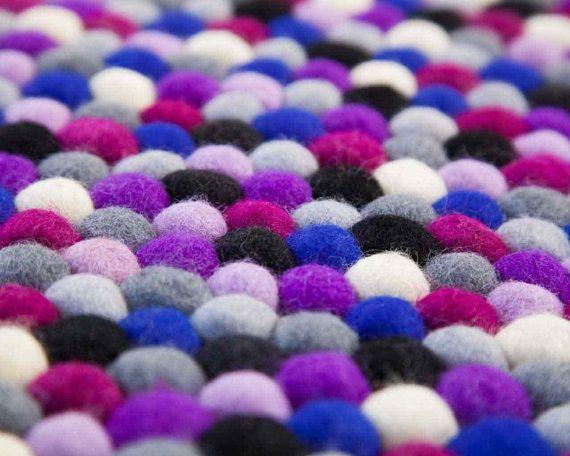 Manna: Round Royal Purple Round Carpet 90cm to 300cm by SukhiRugs