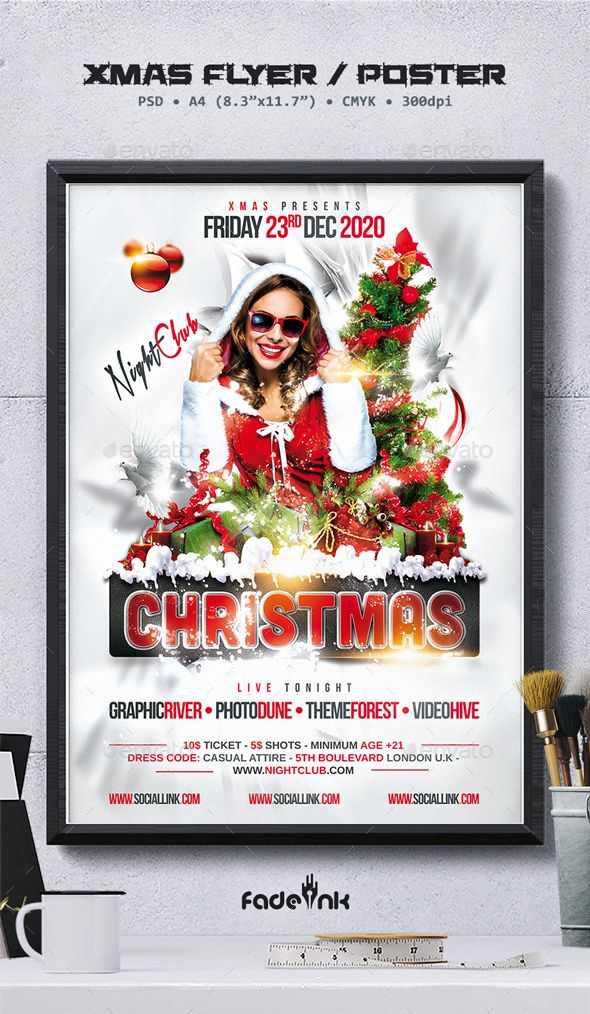 1756 best Christmas Flyer Template images on Pinterest Christmas - christmas party tickets templates