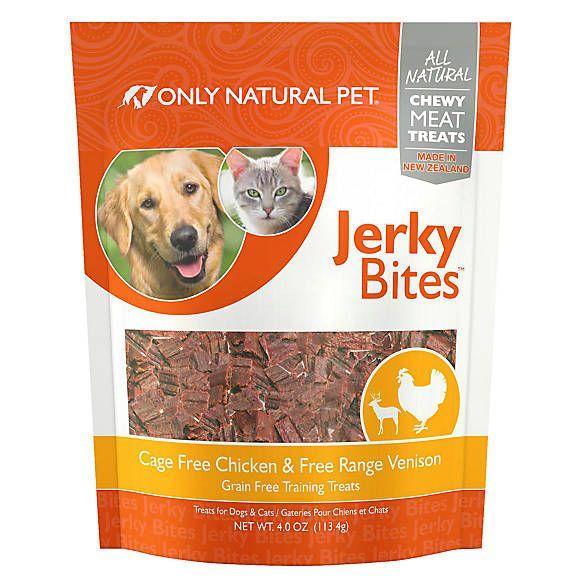 Only Natural Pet Grain Free Chicken Venison Jerky Bites Treat
