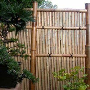 paneles de caas de bambu al natural o verdes barnizadas m