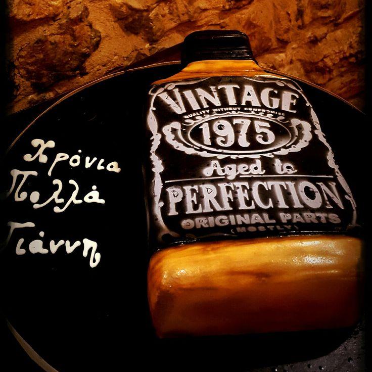 Jack Daniels  Fondant cake  Custom Homemade Cakes By Handy Nancy