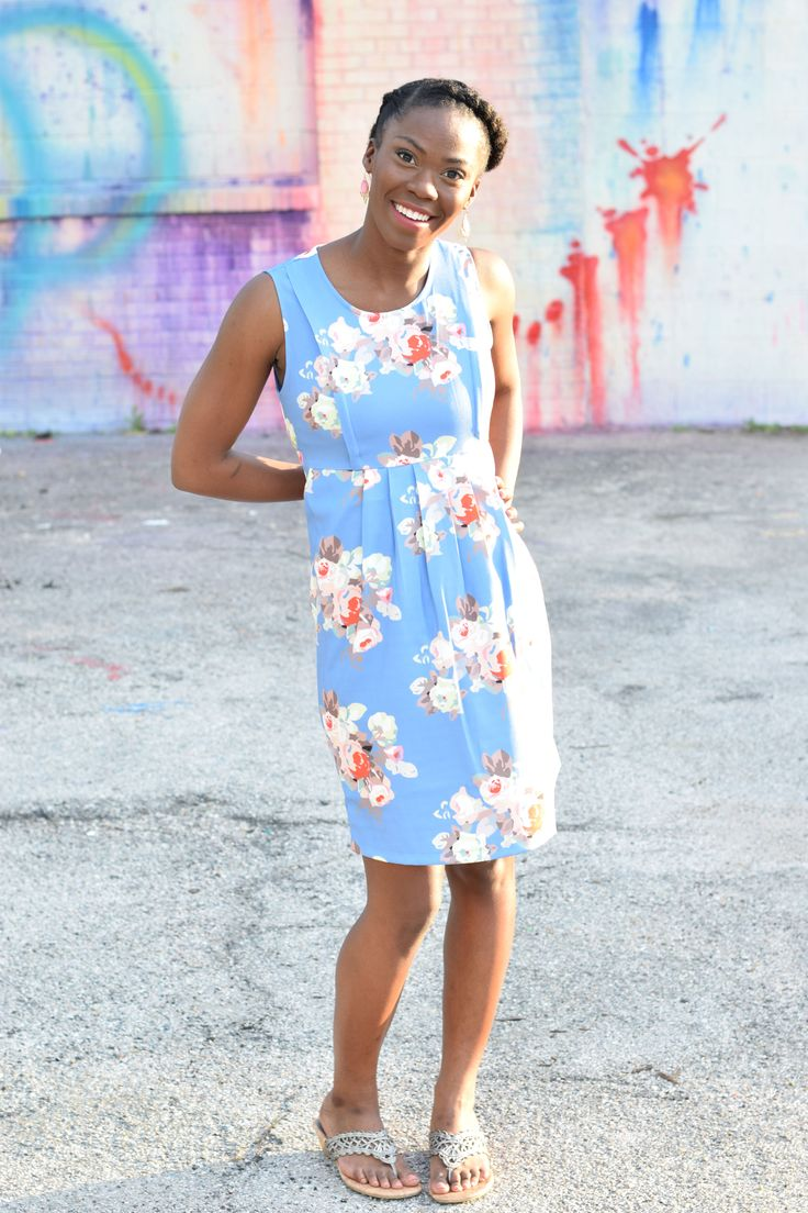 The dress access - Colleen Vintage Print Woven Nursing Dress In Periwinkle Floral By Spring Maternity