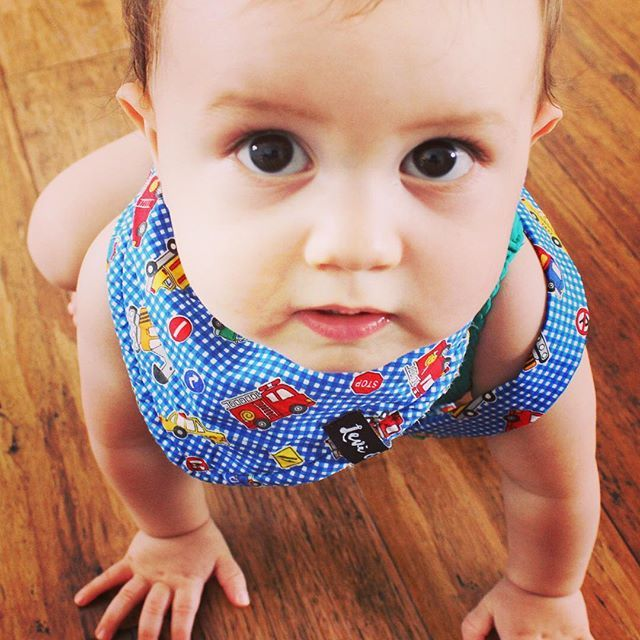 Couldn't resist sharing this beautiful picture. The reason we started @levi_and_evelyn to begin with. #ourbabymuse featuring our Traffic Jam Playsuit and bandana bib.  Don't forget to checkout our #giveaway on our Facebook page www.facebook.com.au/leviandevelyn #leviandevelyn #playsuits #babyboy