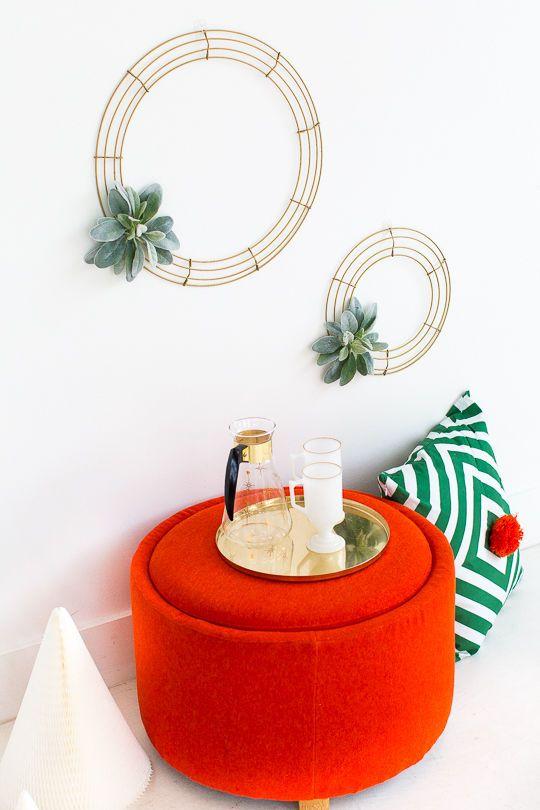 Geometric Homemade Wreaths : homemade wreath