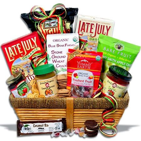 Organic Gift Basket Classic by GourmetGiftBaskets.com -- Birthday gift I gave to my aunt, Anne