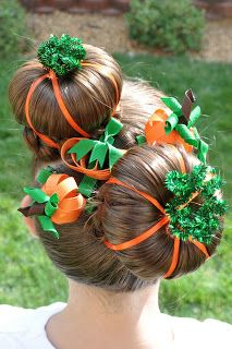 Princess Piggies: Halloween Hairdos: Pumpkin Patch