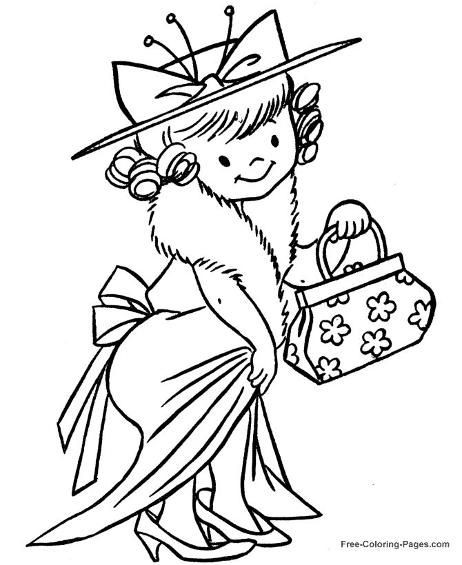 Dress Up Coloring Pages 663 best Coloriages personnages images on Pinterest