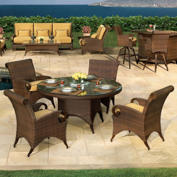 Shambala All Weather Wicker Cast Dining Patio Furniture by Cast Classic | Family Leisure