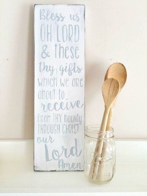 Bless Us Oh Lord Dinner/Meal Prayer Hand by PlaceinProgress