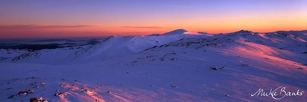First light on Mt Kosciuszko