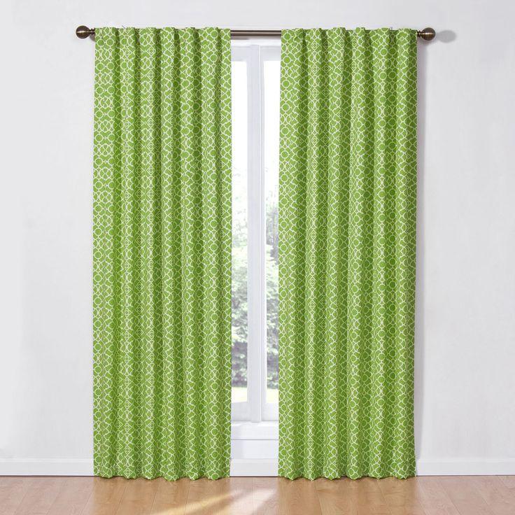 Waverly Lovely Lattice Curtain Panel   From Hayneedle.com