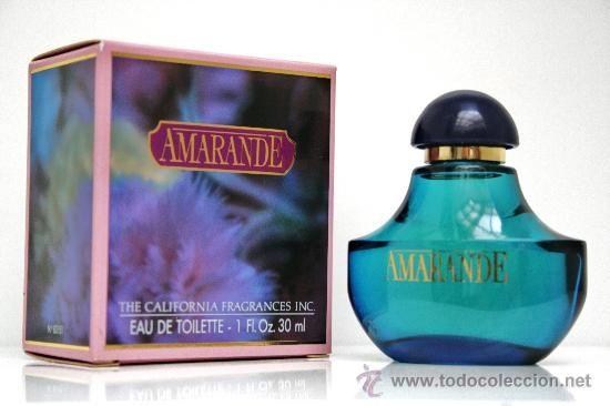 AMARANDE DE MYRURGIA. THE CALIFORNIA FRAGANCES INC.COLONIA/PERFUME EDT 30 ML (Botellas, Cajas y Envases - Botellas Antiguas)
