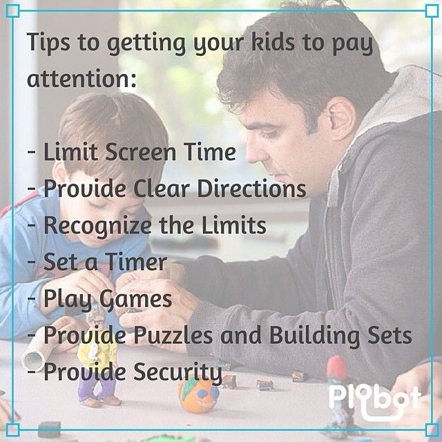 #Tips to getting your #kids to pay attention. #Parenting