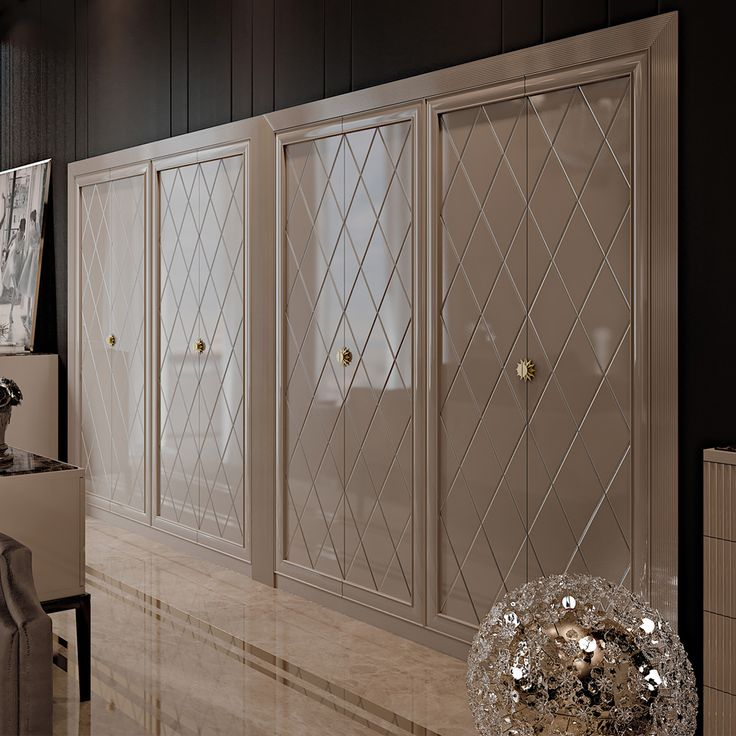 Large High End Italian Art Deco Inspired Fitted Wardrobe