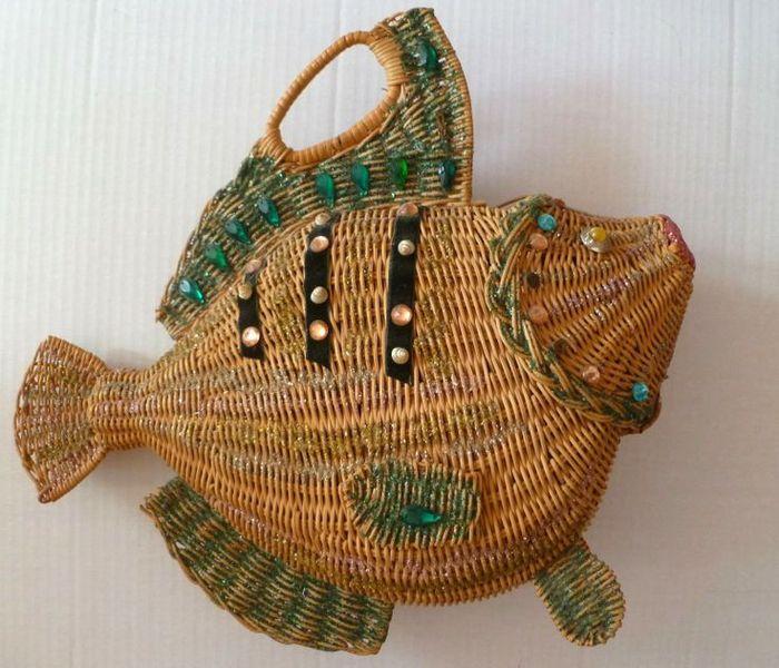 Фото - идея. Плетеные сумки. Забавные и креативные..