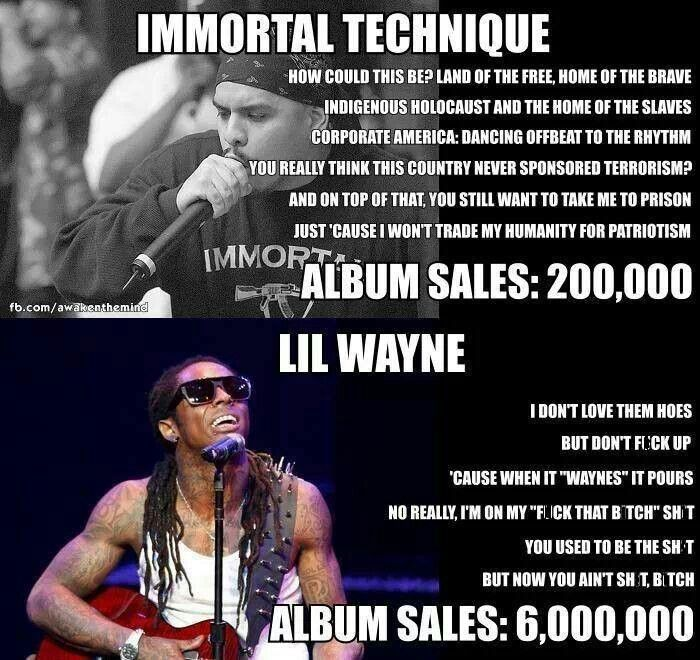 Immortal Technique vs Lil Wayne - No explanation needed.