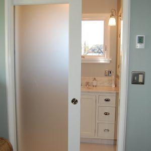 Glass Panel Interior Doors Bathroom