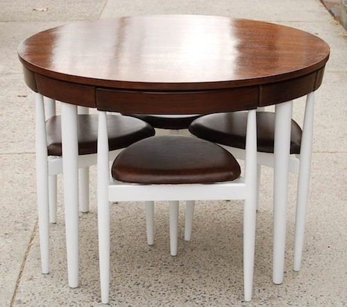 Compact table and chairs.