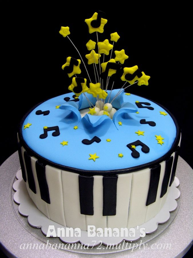Birthday Cake Ideas Music : Best 25+ Music birthday cakes ideas on Pinterest