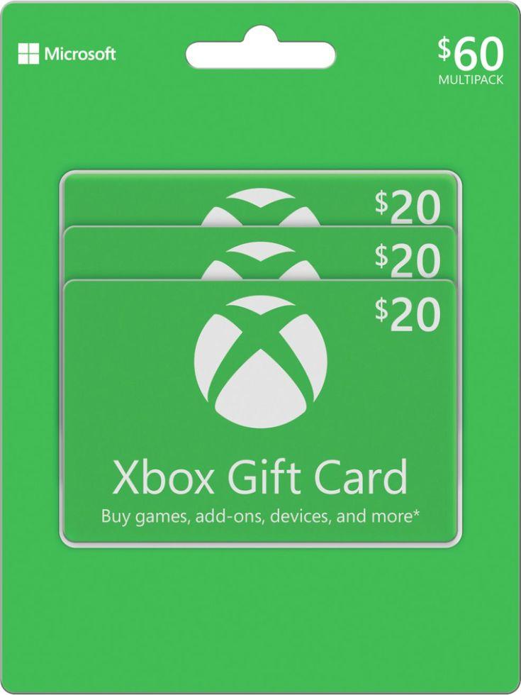 Microsoft 20 xbox gift card 3pack microsoft xbox mp