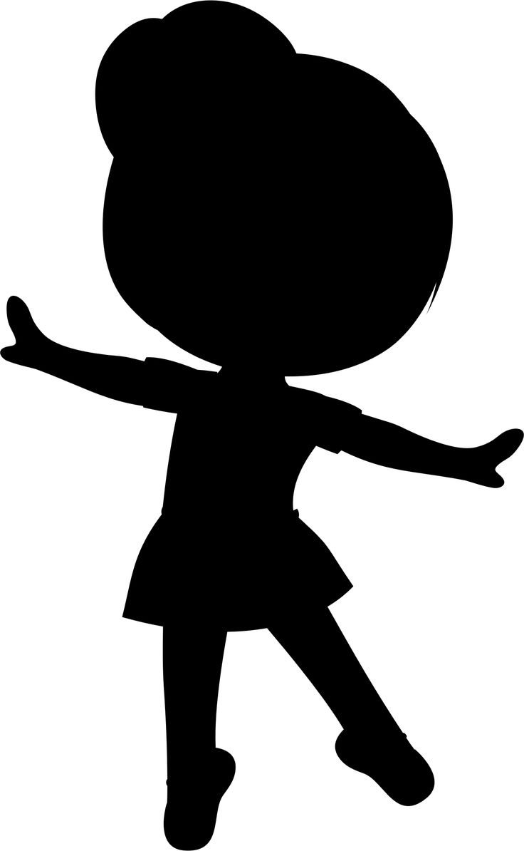 Little Girl Ballerina Silhouette by GDJ