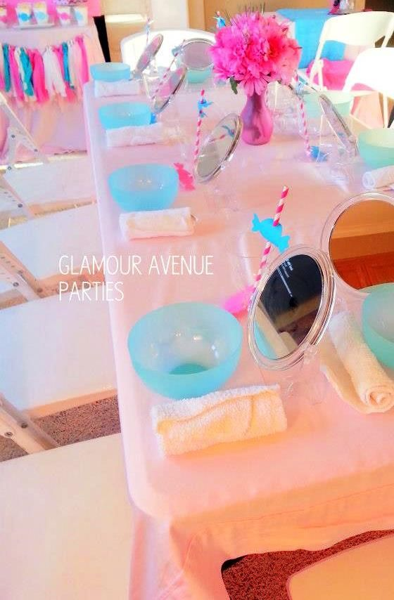 little girl spa party ideas | Stylish Kids : Pink & Aqua Spa PJ Party
