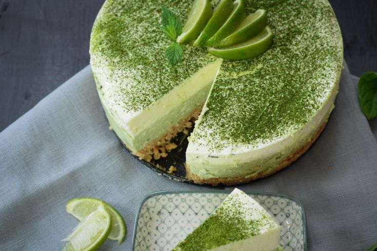 Matcha Cheesecake Rezept - mintnmelon
