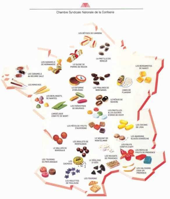 La carte des bonbons de France/ Candy Map of France