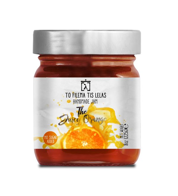 TO FILEMA TIS LELAS - HANDMADE ORANGE JAM
