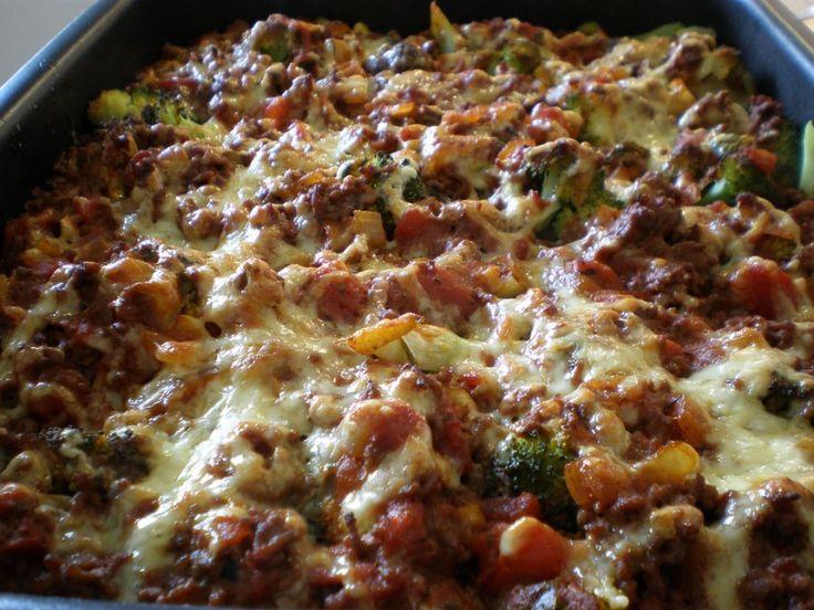 Nudelauflauf mit Faschiertem und Brokkoli Rezept