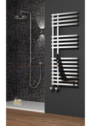 Reina Felino Towel Rail Radiator Chrome Design Available At Heated Rails