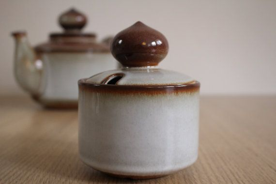 Sonja sugar bowl with lid Soholm Søholm  Bornholms by NordicThings