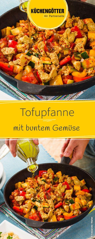 Low Carb Rezept für Tofupfanne mit buntem Gemüse