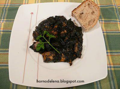 CALAMARES EN SU TINTA. Un plato muy especial típico del norte de España. Atrévete con esta receta si te gustan los calamares!!