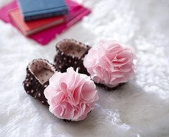 little girls shoes flower frill