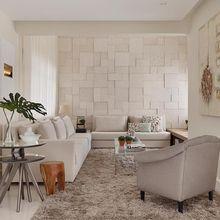 Sala de estar com tapete Felpudo e Poltrona