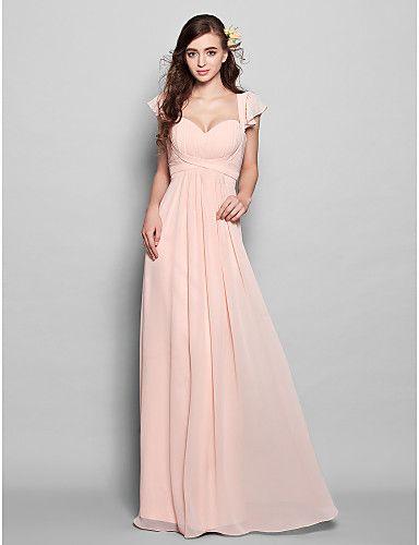 Vestido de Dama de Honor Largo Rosa Perla  @ Vestidos de Fiesta Baratos Blog