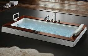 Large soaking tub with jets and a TV. This has got to be the best possible thing in the world after a stressful day.