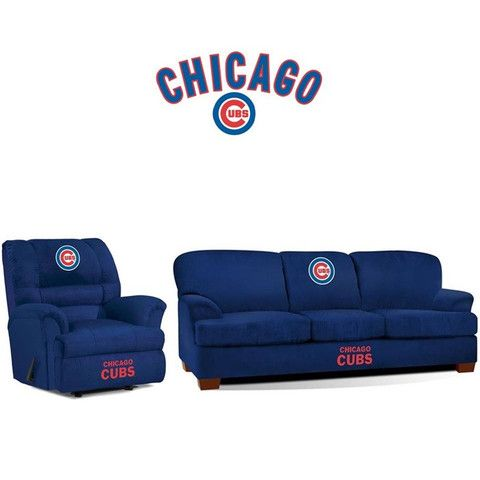 Chicago Cubs Microfiber Furniture Set For Bills Man Cave When He Gets It!