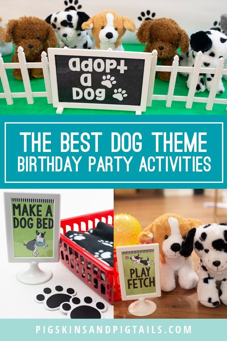 Puppy Dog Theme Birthday Party Dog Themed Parties Puppy