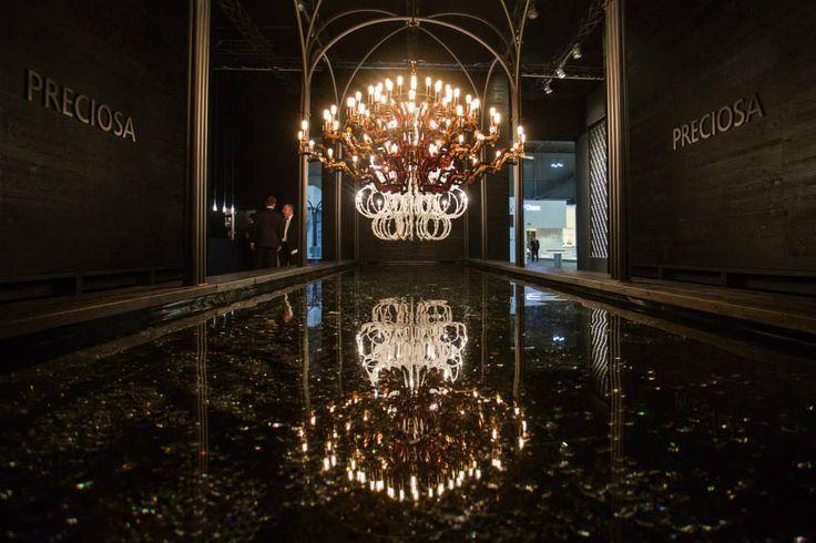 Mercury and Venus at the Crystal Fountain. #euroluce2015 #milandesignweek #salonedelmobile #ronyplesl #plesl #loft #lightingideas #mariatheresa #chandelier #light #design #interiordesign #glass #inspiration #luxury #crystal #decoration #style #preciosalighting