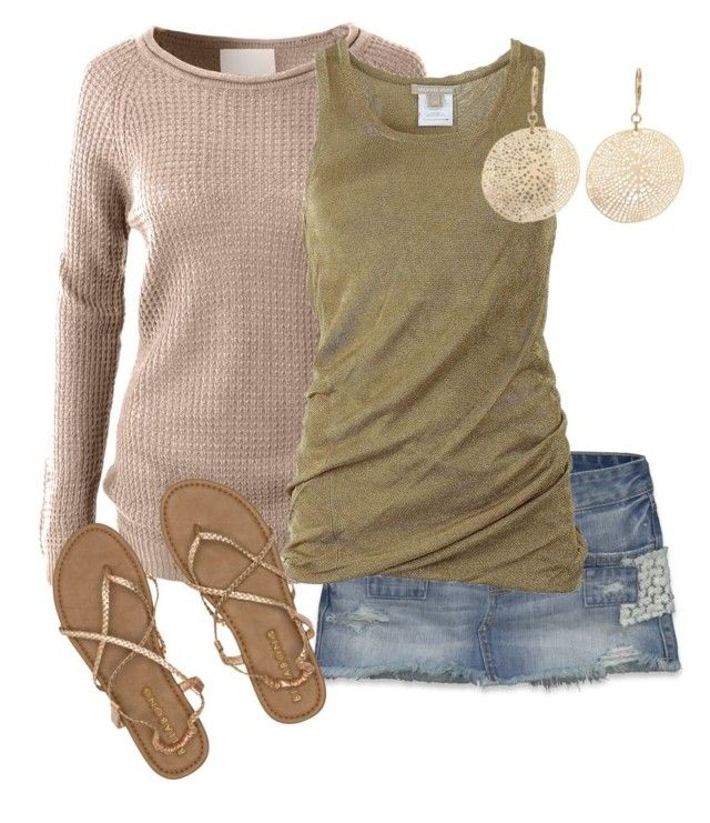 """""""Surfer chic by Mandys120"""" by mandys120 on Polyvore featuring Hollister Co., LE3NO, Michael Kors, David Aubrey, Billabong, women's clothing, women, female, woman and misses"""