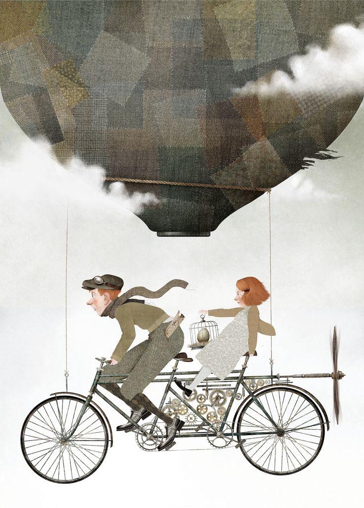 Iban Barrenetxea , illustration  (Tandem, Cycling, Biking)