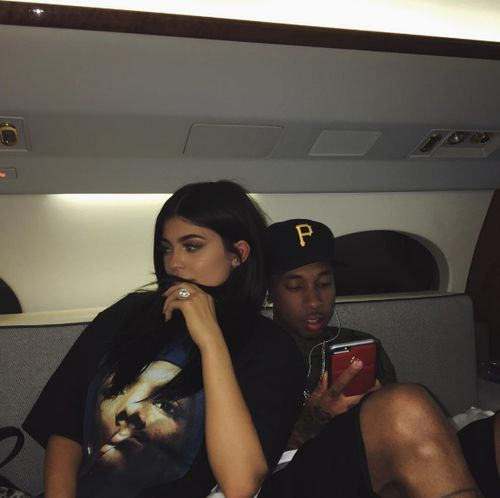 Imagen de kylie jenner, tyga, and couple