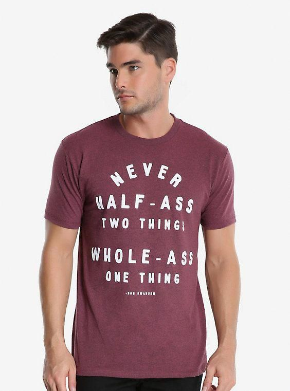 945d162a4f4c Parks And Recreation Ron Swanson Advice T-Shirt, RED #MensT-shirts ...