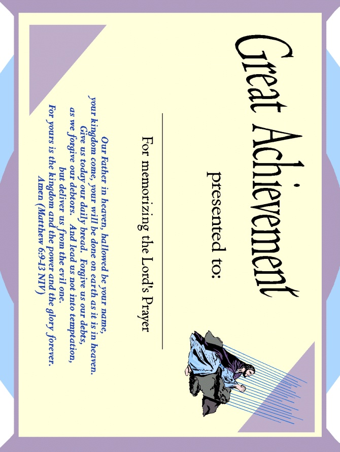 12 best Sunday School Certificates images on Pinterest - certificate of achievement for kids