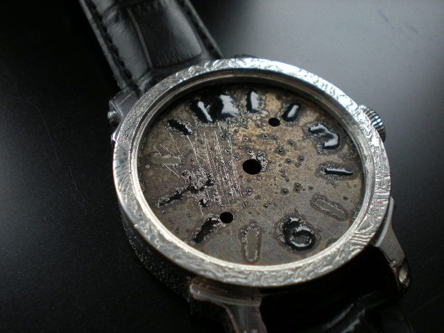 """Future Panerai"" dial watch, enamel  grand feu."